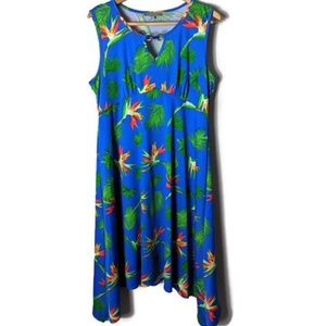 NY Collection Tropical Birds of Paradise Dress